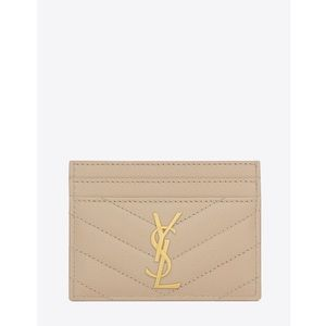 Saint Laurent Powder Monogram Card Case